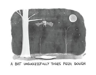 Pizza Drawing - New Yorker March 27th, 2017 by Jason Adam Katzenstein