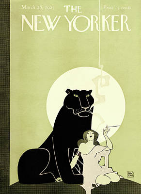 Big Moon Painting - New Yorker March 28th, 1925 by Ray Rohn