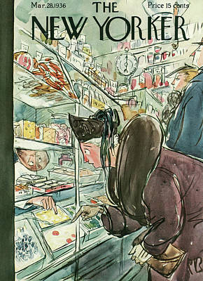 Grocery Store Painting - New Yorker March 28th, 1936 by Perry Barlow