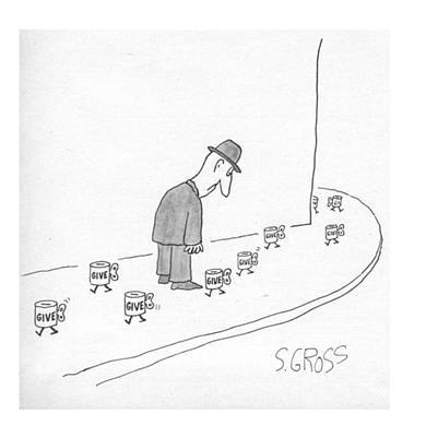 Charity Drawing - New Yorker March 28th, 1977 by Sam Gross