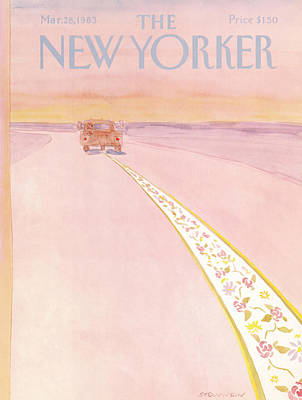 Wall Street Painting - New Yorker March 28th, 1983 by James Stevenson
