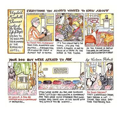 Owner Drawing - New Yorker March 28th, 1994 by Victoria Roberts