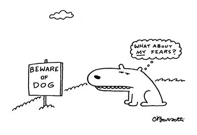 Mental Drawing - New Yorker March 29th, 1999 by Charles Barsotti