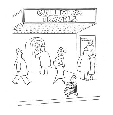 Author Drawing - New Yorker March 2nd, 1940 by Otto Soglow