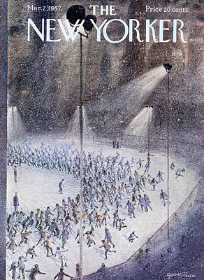 Skate Painting - New Yorker March 2nd, 1957 by Garrett Price