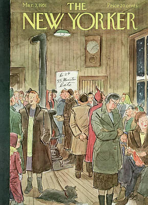 New Yorker March 3rd, 1951 Art Print by Perry Barlow
