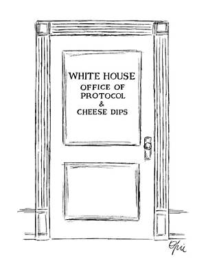 White House Drawing - New Yorker March 3rd, 1986 by Everett Opie