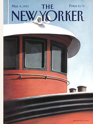 Simpson Painting - New Yorker March 4th, 1991 by Gretchen Dow Simpson