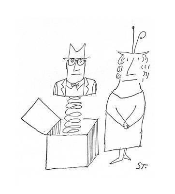 Surprise Drawing - New Yorker March 5th, 1960 by Saul Steinberg
