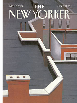Simpson Painting - New Yorker March 5th, 1990 by Gretchen Dow Simpson