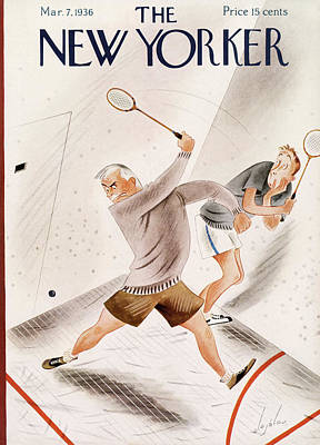 Sports Painting - New Yorker March 7th, 1936 by Constantin Alajalov