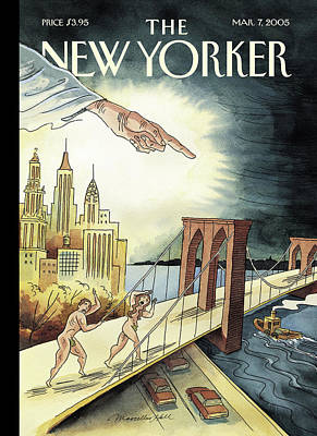 Brooklyn Bridge Painting - New Yorker March 7th, 2005 by Marcellus Hall