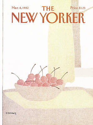 Fruit Bowl Window Painting - New Yorker March 8th, 1982 by Devera Ehrenberg