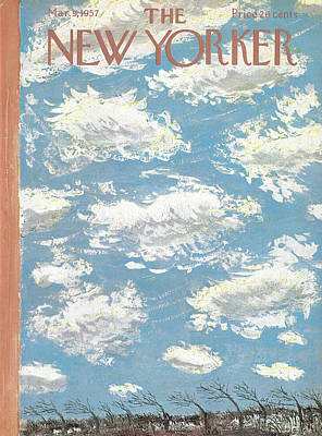 Cloudscape Painting - New Yorker March 9th, 1957 by Abe Birnbaum