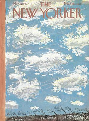 Abe Birnbaum Painting - New Yorker March 9th, 1957 by Abe Birnbaum