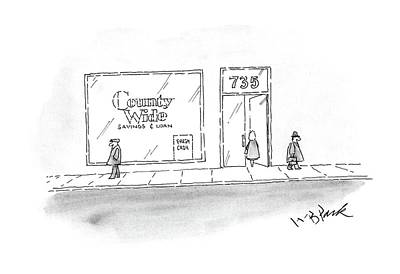 Window Signs Drawing - New Yorker March 9th, 1987 by W.B. Park
