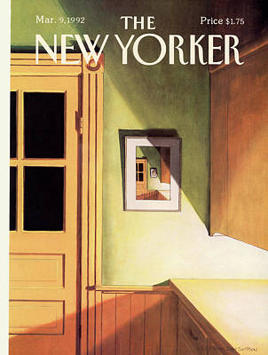 Simpson Painting - New Yorker March 9th, 1992 by Gretchen Dow Simpson