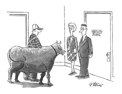 Fertility Drawing - New Yorker March 9th, 1998 by Peter Steiner