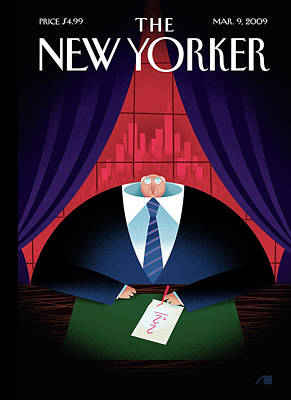 Painting - New Yorker March 9th, 2009 by Bob Staake