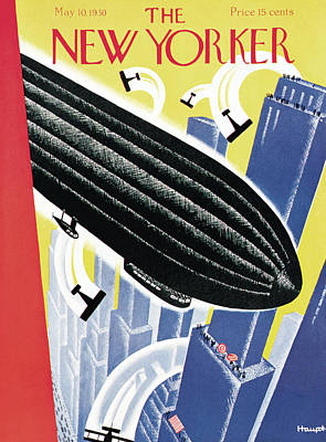 Air Show Painting - New Yorker May 10th, 1930 by Theodore G. Haupt
