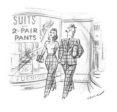Storefront Drawing - New Yorker May 10th, 1941 by Leonard Dove