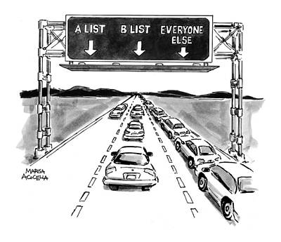 Marisa-acocella-marchetto Drawing - New Yorker May 10th, 1999 by Marisa Acocella Marchetto