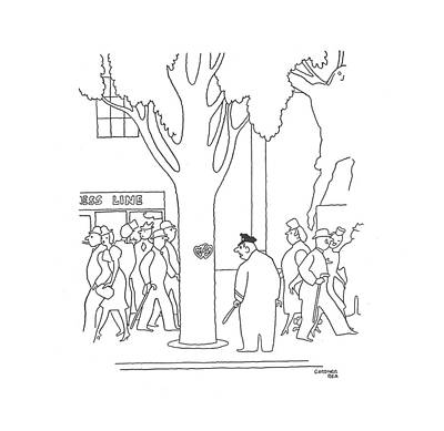 Vandalize Drawing - New Yorker May 11th, 1940 by Gardner Rea