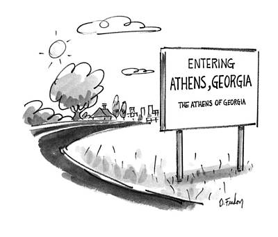 Athens Drawing - New Yorker May 11th, 1992 by Dana Fradon