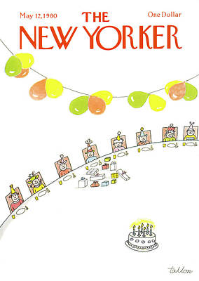 1980 Painting - New Yorker May 12th, 1980 by Robert Tallon