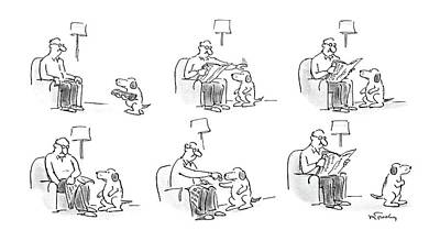 Coins Drawing - New Yorker May 12th, 1986 by Mike Twohy