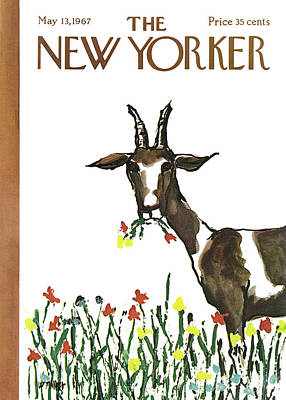 Goat Wall Art - Painting - New Yorker May 13th, 1967 by Warren Miller