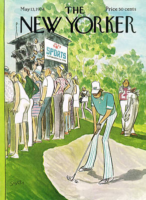 Caddy Painting - New Yorker May 13th, 1974 by Charles Saxon