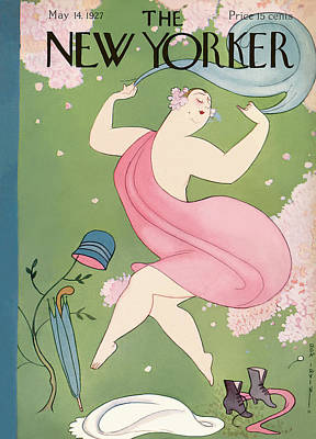 Spring Painting - New Yorker May 14th, 1927 by Rea Irvin