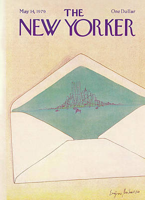 Postal Painting - New Yorker May 14th, 1979 by Eugene Mihaesco