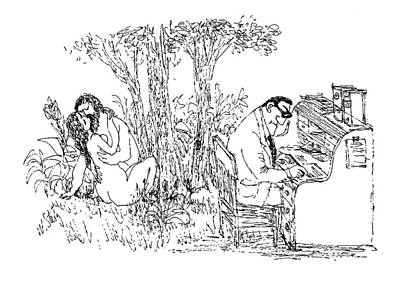 Woods Drawing - New Yorker May 15th, 1971 by William Steig
