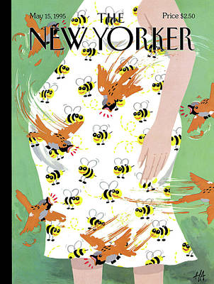 Bees Painting - New Yorker May 15th, 1995 by Bob Zoell