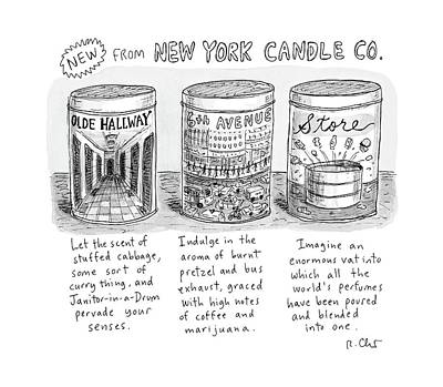 Candle Drawing - New Yorker May 15th, 2017 by Roz Chast