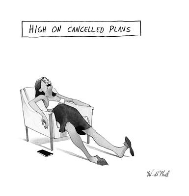 Plans Drawing - New Yorker May 15th, 2017 by Will McPhail