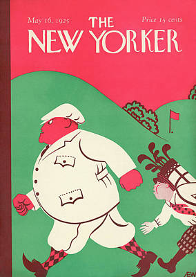 Golf Painting - New Yorker May 16th, 1925 by A.E. Wilson