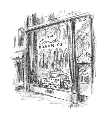 Window Signs Drawing - New Yorker May 16th, 1942 by Alan Dunn