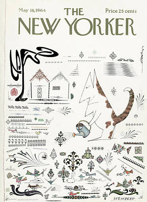 New Yorker May 16th, 1964 Art Print by Saul Steinberg