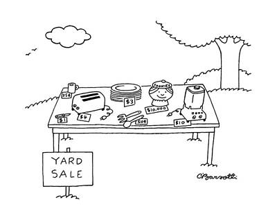 Cookie Jar Wall Art - Drawing - New Yorker May 16th, 1988 by Charles Barsotti