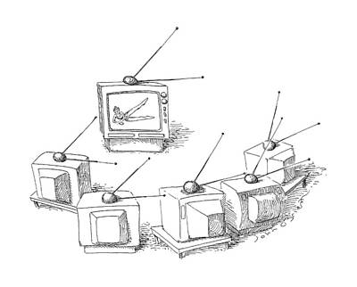 Antennae Drawing - New Yorker May 16th, 1988 by John O'Brien