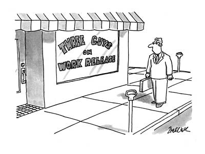 Storefront Drawing - New Yorker May 16th, 1994 by Jack Ziegler