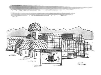 Fast Food Drawing - New Yorker May 16th, 1994 by Mick Stevens