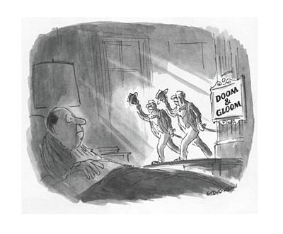 Haunted Drawing - New Yorker May 17th, 1982 by James Stevenson