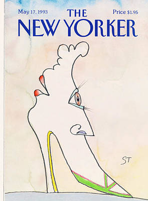 Face It Painting - New Yorker May 17th, 1993 by Saul Steinberg
