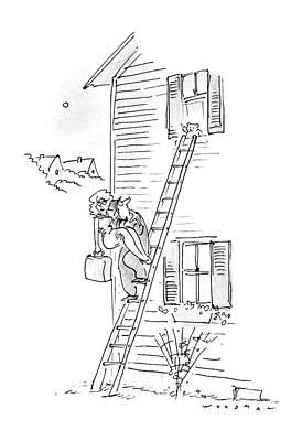 Bear Drawing - New Yorker May 18th, 1987 by Bill Woodman