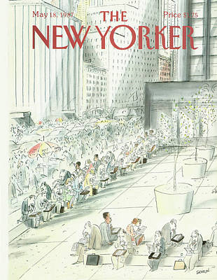 Painting - New Yorker May 18th, 1987 by Jean-Jacques Sempe