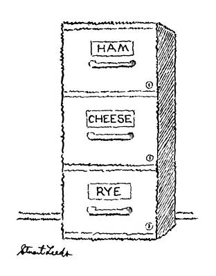 File Cabinets Drawing - New Yorker May 18th, 1987 by Stuart Leeds